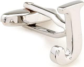 Letter A-Z Monogram Initial Cufflinks with a Presentation Gift Box & Polishing Cloth