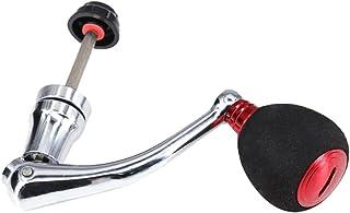 SJZERO Poignée de Moulinet de pêche Pliable EVA manivelle à Bascule de pêche entièrement en métal pour Accessoires de pêch...