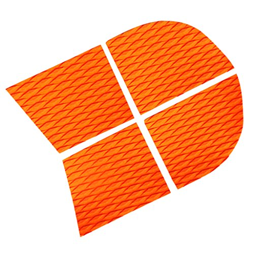 Toygogo 4X SUP Non-Slip Adhesive EVA Dog Traction Grip Pad for Kayak/Surf/Paddle Board - Orange