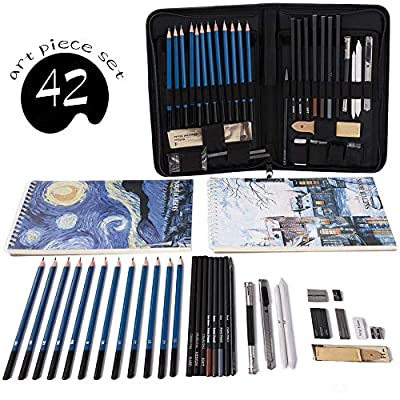 Professional Art Set Drawing and Sketching Set- Drawing, Sketching and Charcoal Pencils