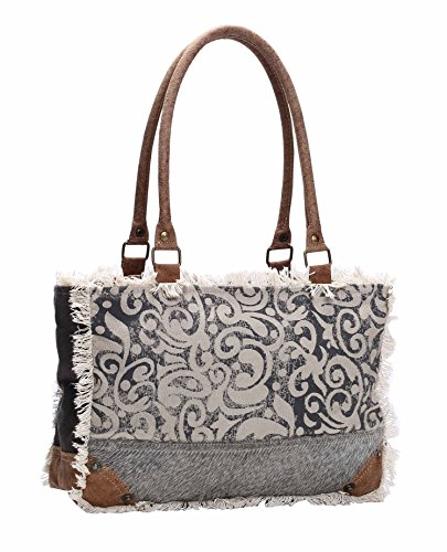 Myra Bag Upcycled Canvas Bag, Brown