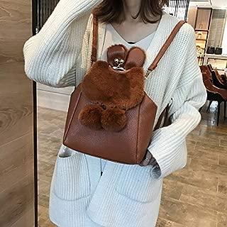 WTYD Single Shoulder Bag Multi-Function Leisure Fashion PU Leather Slant Shoulder Bag Double Shoulders Bag(Black) (Color : Brown)