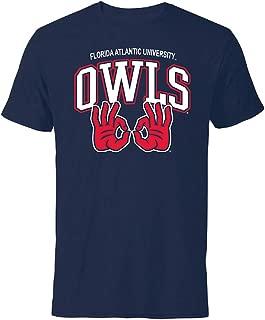 Florida Atlantic University FAU Owls Owls Up Hand Sign Short Sleeve T-Shirt