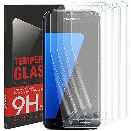 [4Pack] Galaxy S7Edge pellicola protettiva, Rusee ultra HD senza bolle e anti-impronte pellicola protettiva trasparente antigraffio copertura completa copertura per Samsung Galaxy S7Edge