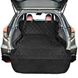 xterra cargo cover - FunniPets SUV Cargo Liner for Dogs, Waterproof Cargo Cover for SUV, Large Size Pet Seat Cover with Non-Slip Backing and Protective Bumper Flap, Black