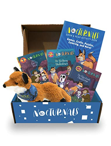 The Nocturnals Grow & Read Activity Box: Early Readers  Plush Toy  and Activity Book - Level 1–3 (The Nocturnals Activity Box Series  2)