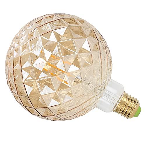 Oure Bombilla de filamento, Alta transmitancia de luz y Bombilla de luz de filamento Flexible Bombilla de lámpara Retro para Sala de Estar para Dormitorio(Golden, Pink)