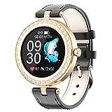 BNMY Reloj Inteligente Mujer, Smartwatch Impermeable IP67 Pulsera Actividad Deportivo con Monitor De Sueño, Pulsómetro, Pantalla Táctil Completa Reloj Fitness para Android Y iOS,Negro