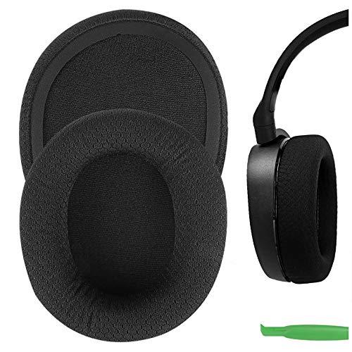 Geekria QuickFit Mesh Fabric Almohadillas de Repuesto para Auriculares for SteelSeries Arctis 3 Arctis 5 Arctis 7 Arctis 9X Arctis PRO Headphone, Auriculares Almohadillas