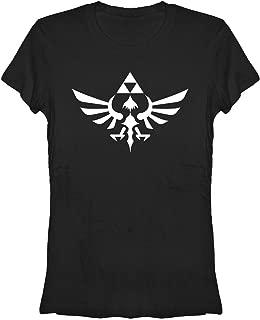Nintendo Legend Zelda Triumphant Triforce Junior's Black Shirt