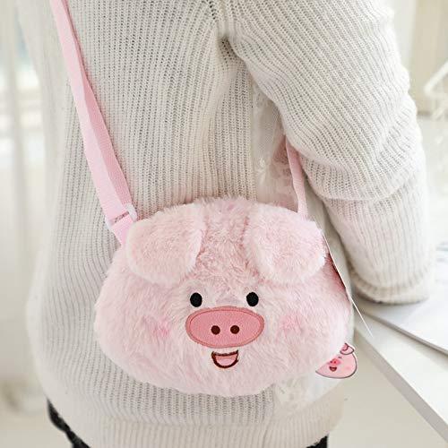 TOPCOMWW Cartoon Pig Bag Vrouwen Mooie Piggy Bag Vrouwelijke Mode Messenger Tassen Leuke Lelijke Pluche Crossbody Pack Roze Lolita Schoudertas