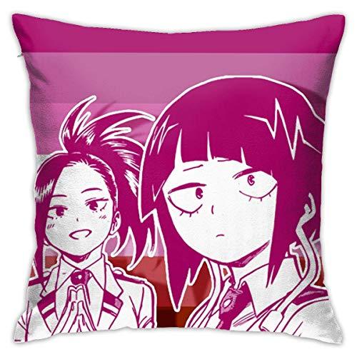 XCNGG Mi H-e-r-o AC-ad-em-IA-Lesbian Momojirou Funda de Almohada Cuadrada Throw Pillow Cojín para sofá Cojín para Coche Decoración