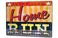 カレンダー Perpetual Calendar Retro M.A. Allen Baseball Home Run Tin Metal Magnetic