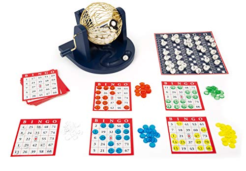 11406 Juego de Bingo, Small Foot, con Tambor de Bingo y Accesorios, familias y Juego de niños.