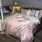 Exlcellexngce Bettbezug 140x 200,BettwäSche Set Full Queen/King Doppelbett Bettdecke Deckung Quilt...