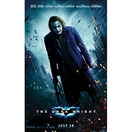 The Dark Knight Movie Poster man cave bar The Joker Choose Size Heath Ledger