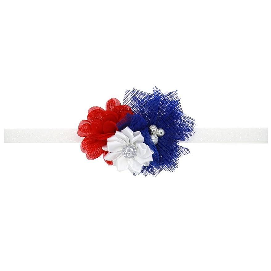 招待安定しましたBESTOYARD 赤ちゃんの女の子の毛のフープアメリカンフラグ愛国心のための愛国的なヘアバンドクリスタルフラワーフラワークラウンストレッチヘッドバンド