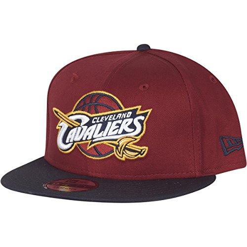 New Era - Berretto da Uomo NBA Team 9fifty Cleveland Cavaliers, Uomo, Coperchio, 11394836, Rosso, Medium (Manufacturer Size:Small/Medium)