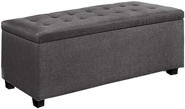 Artiss Large Fabric Storage Ottoman - Grey