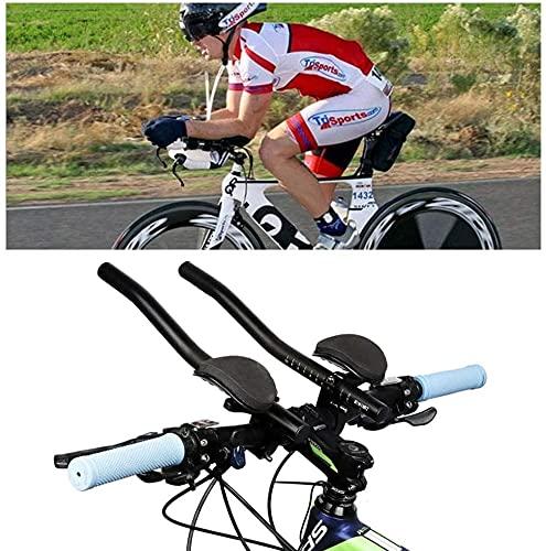 YANJ TT Manillar Aero Bar Triatlon Time Trial Tri Cycling, Bicycle Rest Manillar Time Time Trial Bike Manillar para Bicicleta de Carretera o Mountain Bike Abrazaderas Relajación Versión actualizada