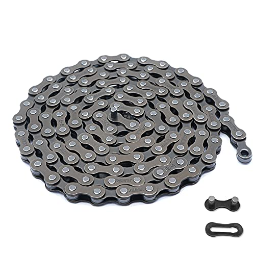 Bike Chain 6/7/8 Speed,Bicycle Chain 1/2x3/32 Inch,Special Steel for Road Mountain Racing Cycling (116 Links)