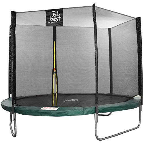 Best for sports trampoline with TÜV Intertek and GS certificate, green, diameter: 305 cm, with safety net, ladder, rain cover with anchor kit, load capacity up to 150 kg