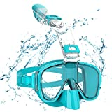 Snorkel Set for Adults, Upgraded Dry Snorkel Mask, 180° Panoramic View Anti-Fog, Detachable Diving Mask with Gopro Mount
