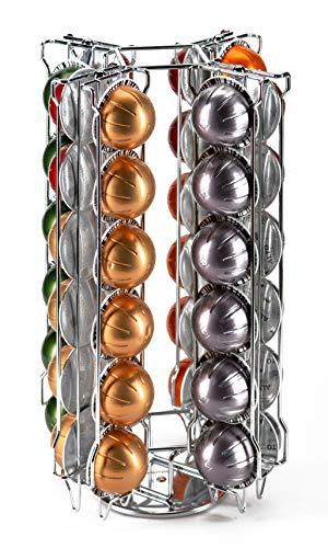 Nespresso Vertuo Pod Halter für 48 Kaffeepads auf drehbarer Basis Babvoom V48