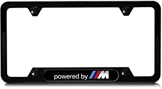BMW 82112348414 Powered by M Stainless Steel License Plate Frame