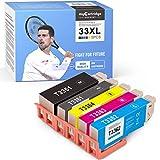 myCartridge SUPRINT 4 cartuchos de tinta de repuesto para Epson 33 33XL compatibles con Epson Expression Premium XP-540 XP-530 XP-640 XP-645 XP-830 XP-7100 XP-900 XP-630 XP-635