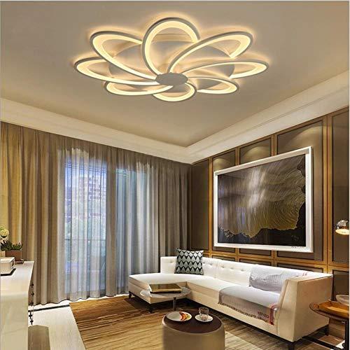 Montado en Superficie Flores llevó las luces del techo de la sala de estar se enciende la iluminación del hogar sitio de la cama llevó la lámpara de techo Lampara accesorios de la lámpara, 7 luces, bl