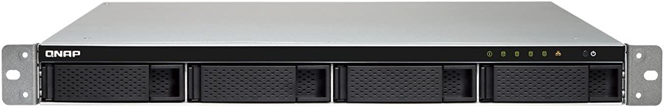 QNAP TS-453BU-8G-US 1U 4-Bay NAS/iSCSI IP-SAN 10GbE-Ready, PCIe Expansion Slot, Single PSU