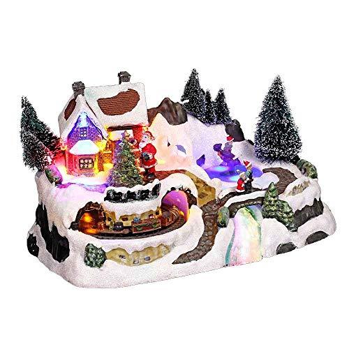 Village de Noël Weihnachtsdekoration, dem Zug