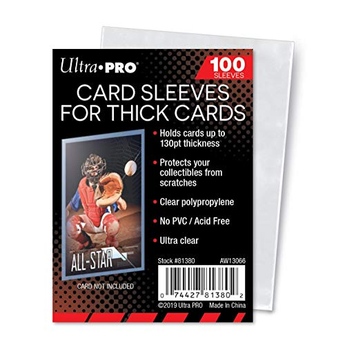 Ultra Pro Thick Card Sleeves for Thick Jersey or Memorabilia Sports Trading Cards by Topps 2 Pack