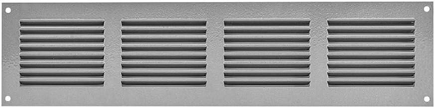 Rejilla de ventilación con protección contra insectos, 400 x 100 mm, color gris