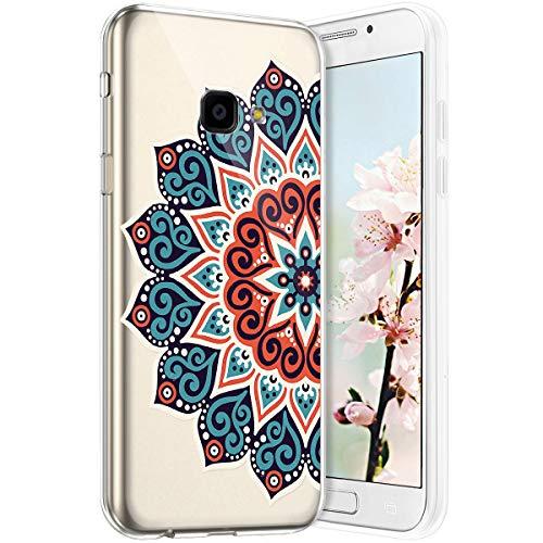 Compatible avec Samsung Galaxy Xcover 4 Coque en Silicone Transparente Motif Mandala Fleur Jolie Housse de téléphone Gel TPU Souple Ultra Mince Crystal Clear Skin Étui Coque pour Galaxy Xcover 4,19#