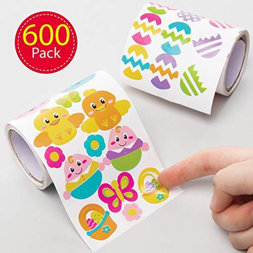 Baker Ross Spar-stickers rollen (verpakking van 600) - knutselen Pasen voor kinderen AT502