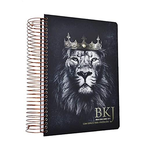Bíblia King James 1611 Com Espaço Para Anotações Leão Rei Dos Reis