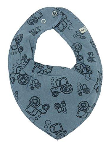 Pippi Pippi HALSTUCH Baby Dreieckstuch mit Druckknöpfen aus Baumwolle (Traktoren auf jeansblau)