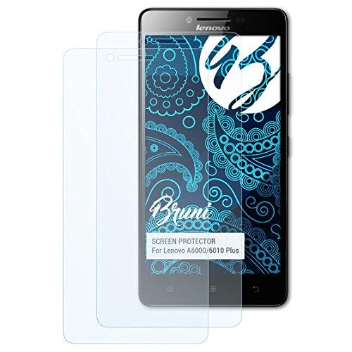 Bruni Schutzfolie kompatibel mit Lenovo A6000/6010 Plus Folie, glasklare Bildschirmschutzfolie (2X)