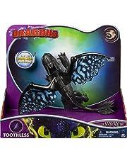Dreamworks Dragons 6046847 - Movie Line Deluxe Dragons, Zonder Tand (Solid), Actiefiguur Met Licht- & Geluidseffecten, Hoe Tem Je Een Draak 3, De Geheime Wereld, Zwart, 12.7 x 35.56 x 30.48 cm