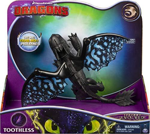 Dragons Il Mondo Nascosto, Drago Sdentato Deluxe con Luci Ed Effetti Sonori, dai 4 Anni In Su