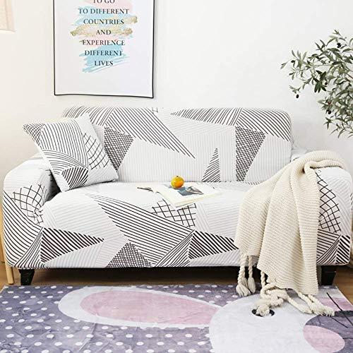 AGGF Fundas de sofá elásticas Funda de sofá de 1 Pieza 1 2 3 Protector de Muebles de 4 plazas con una Funda de Almohada 360 & deg;Diseño Todo Incluido Four Seasons Universal