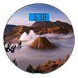 Escala digital de peso corporal de precisión Ronda Volcán Báscula de baño de...