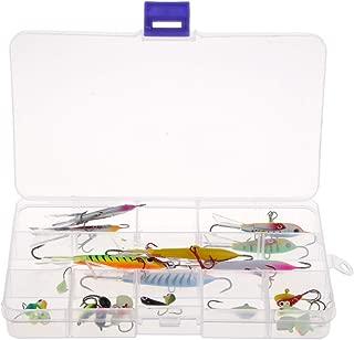 Homyl 26Pcs/Set Mini Ice Fishing Barbed Hook Lure Lead Jig Head Hooks Baits Crank Hooks