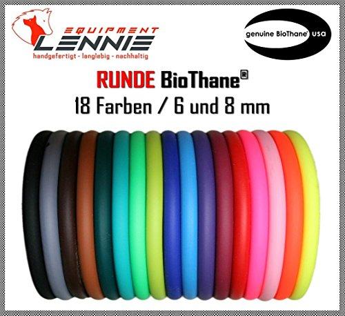 BioThane® Meterware, Beta rund, Ø 6 und 8 mm, viele Farben, 8mm, Neon-Orange