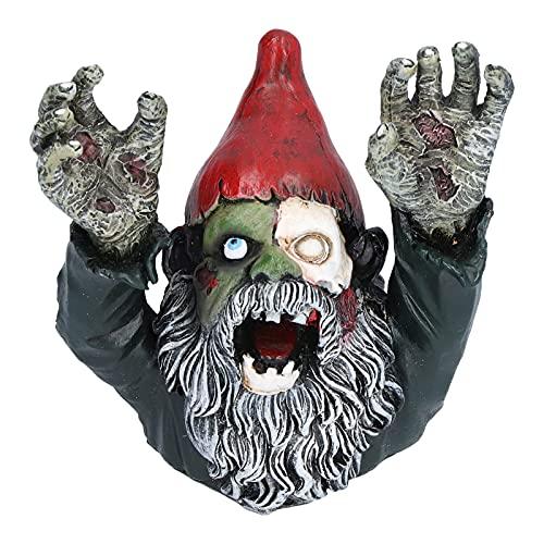 ROMACK Zombie Zwerg Garten Statue, Scary Walking Dead Zwerg Skulptur Böser Horror Outdoor Halloween Dekoration Ornamente, Speziell für Halloween Dekoration Entwickelt