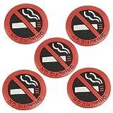 Sonline 5 Stueck Weich Plastik Nichtraucherzeichen-Wand-Fenster-Auto-Aufkleber