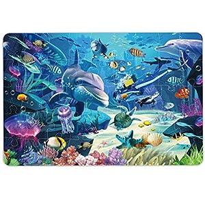 Kids Puzzle Puzzles for Kids Ages 4-8 Underwater Floor Puzzle Raising Children Recognition &Promotes Hand-Eye Coordinatio (46Pcs,3x2Feet)