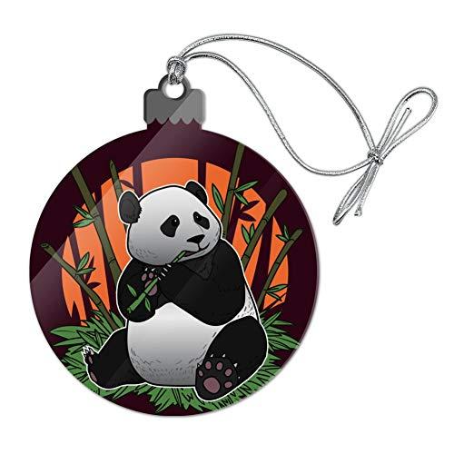 GRAPHICS & MORE Giant Panda Bear Eating Bamboo Acrylic Christmas Tree Holiday Ornament